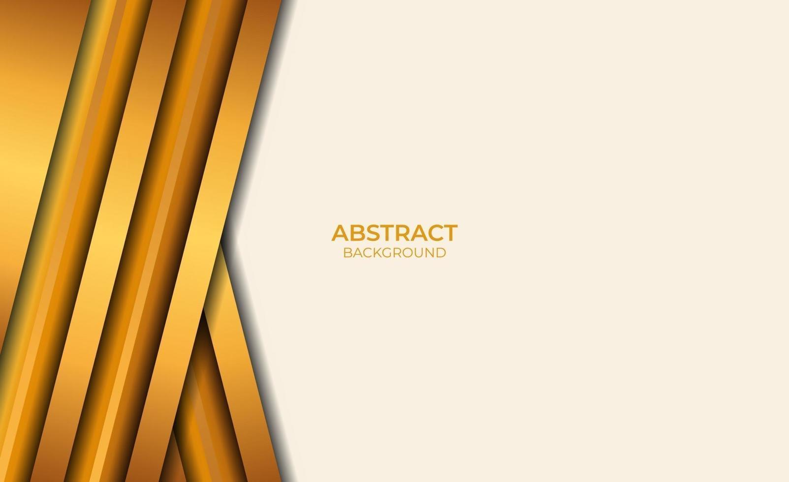 conception de style de fond abstrait marron et or vecteur