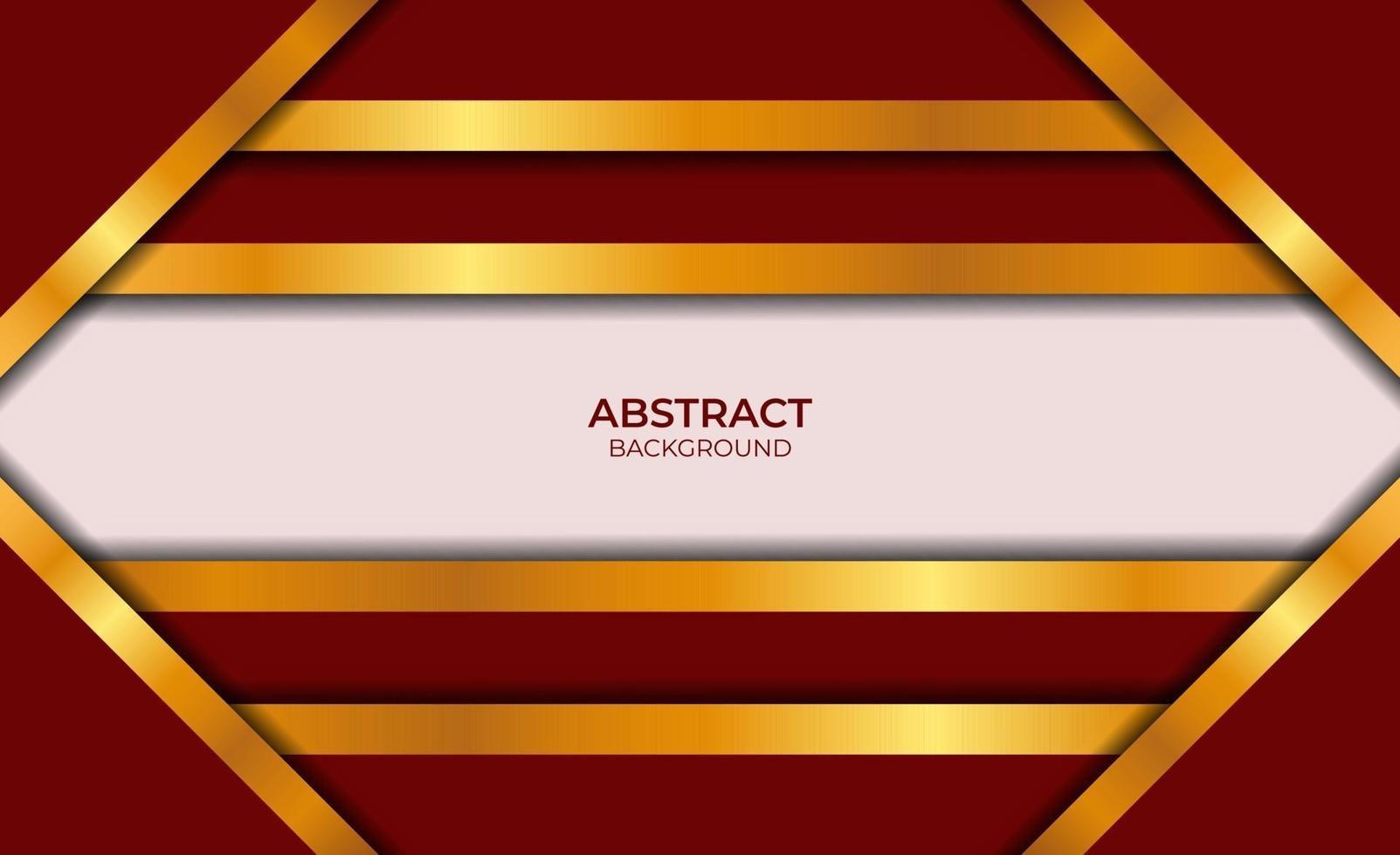 conception abstraite fond rouge et or vecteur