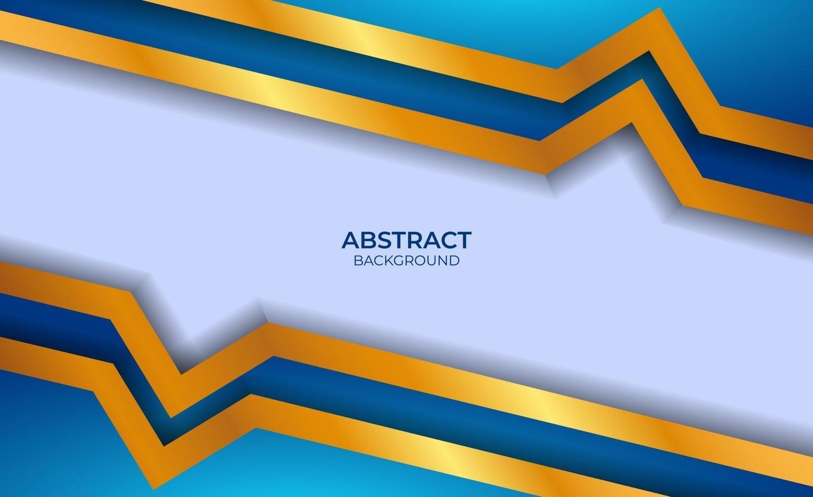 luxe abstrait bleu et or vecteur