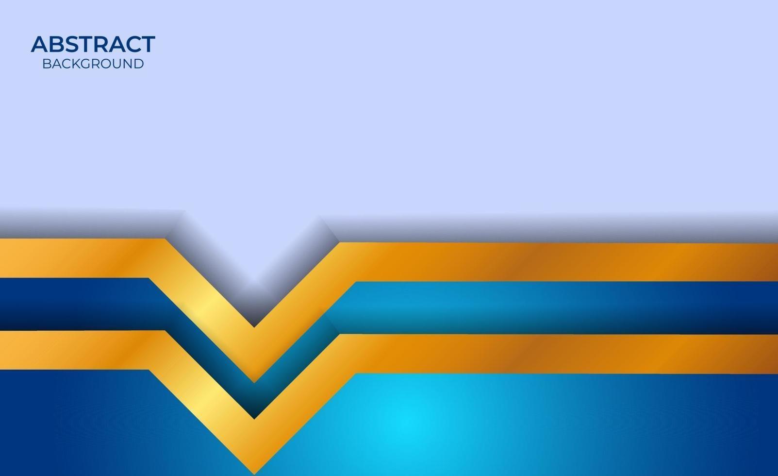 design de luxe de style bleu et or vecteur