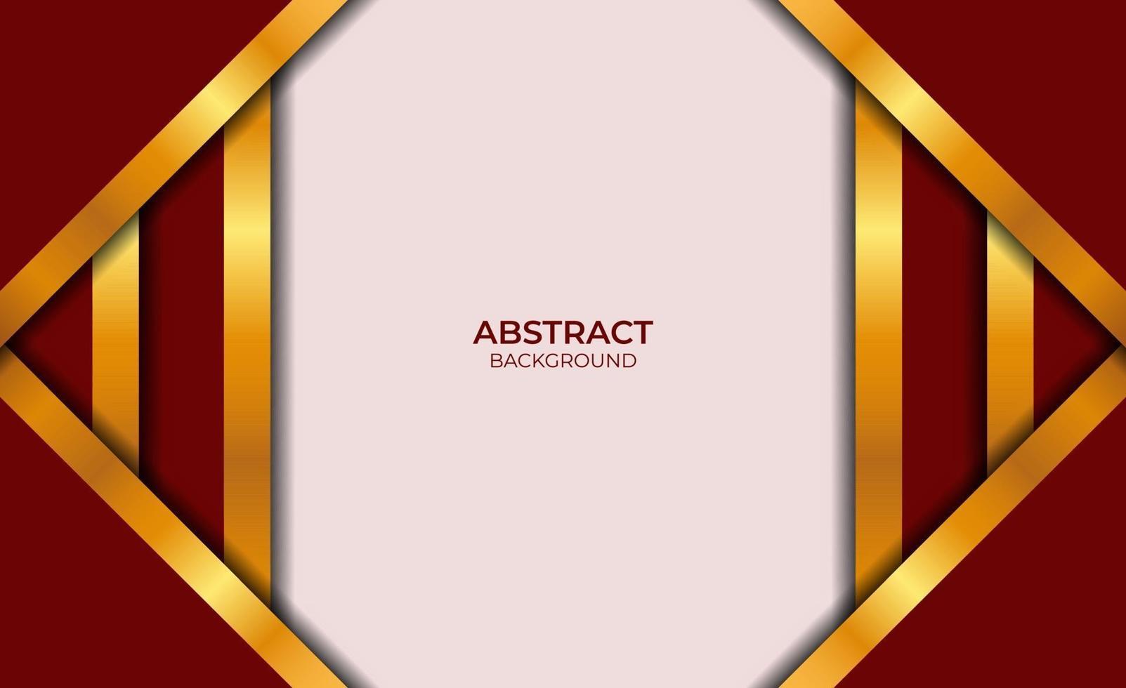 fond abstrait design rouge et or vecteur