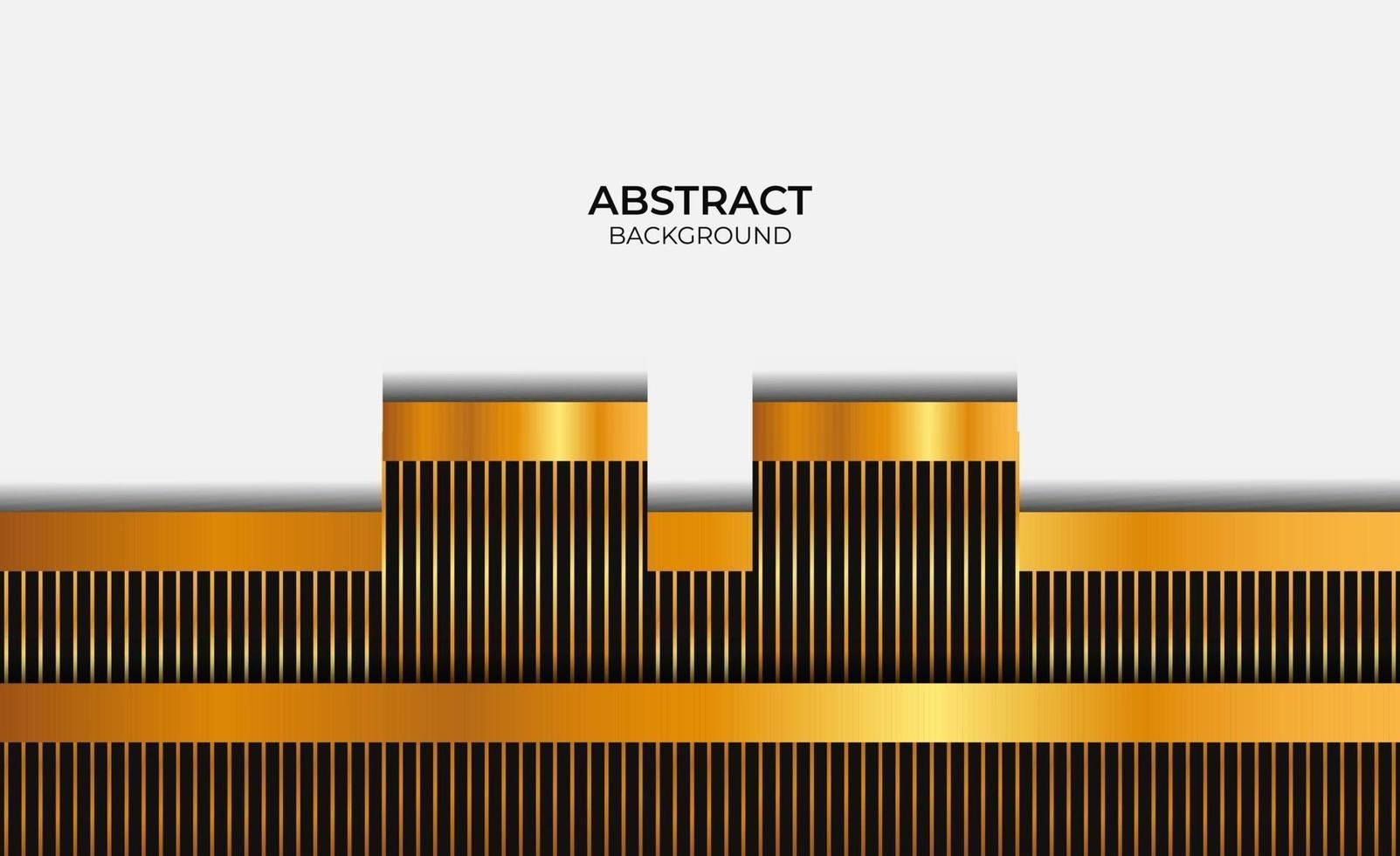 fond abstrait design noir et or vecteur