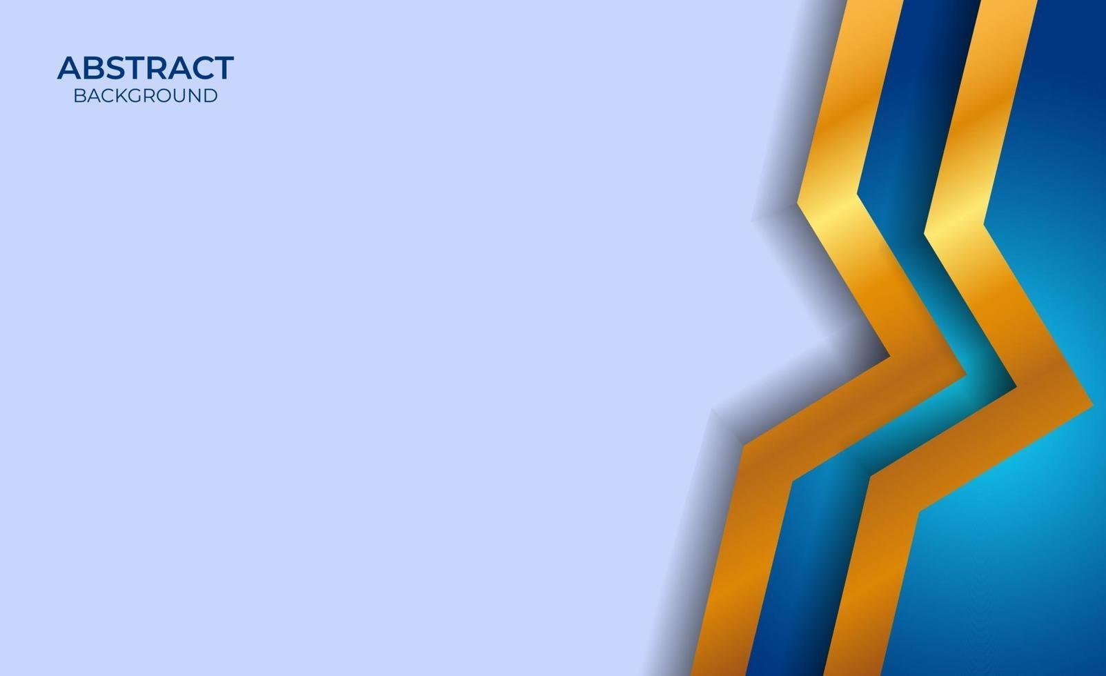 fond abstrait bleu et or vecteur