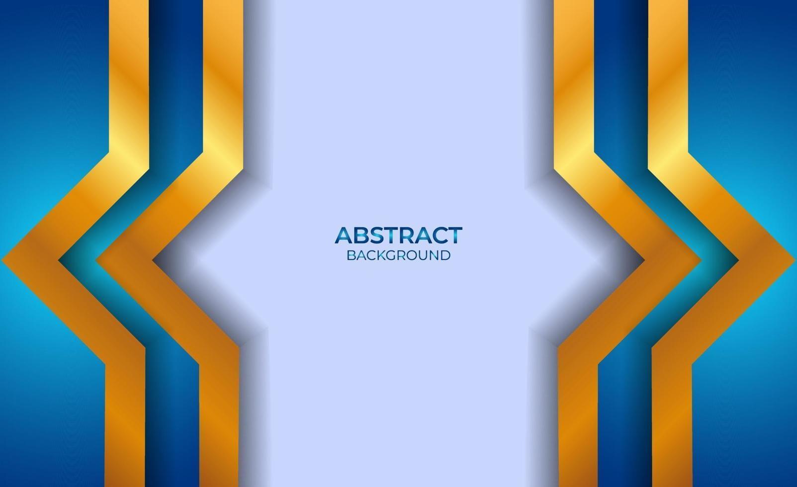 conception abstraite bleu et or vecteur