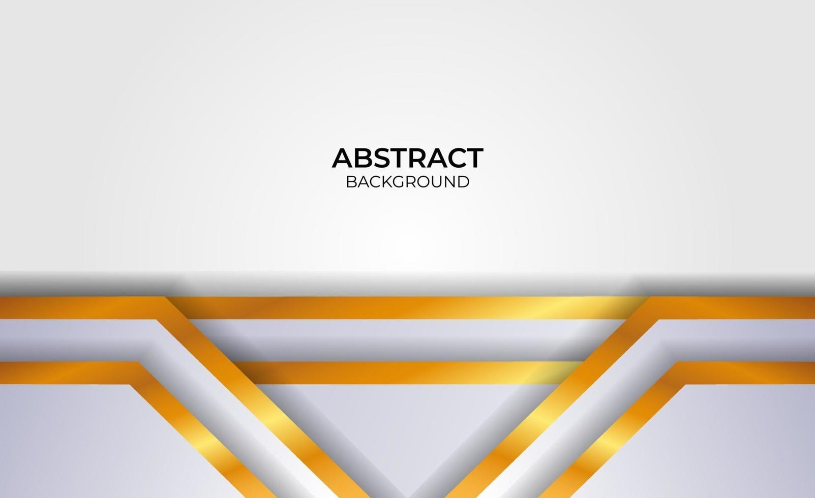 design abstrait élégant gris et or vecteur