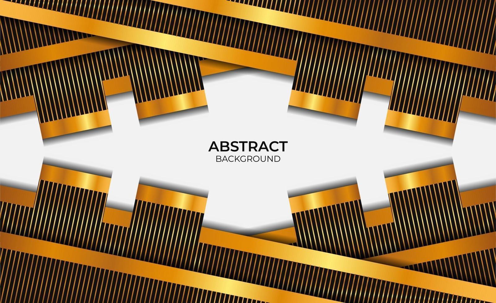 style abstrait noir et or vecteur