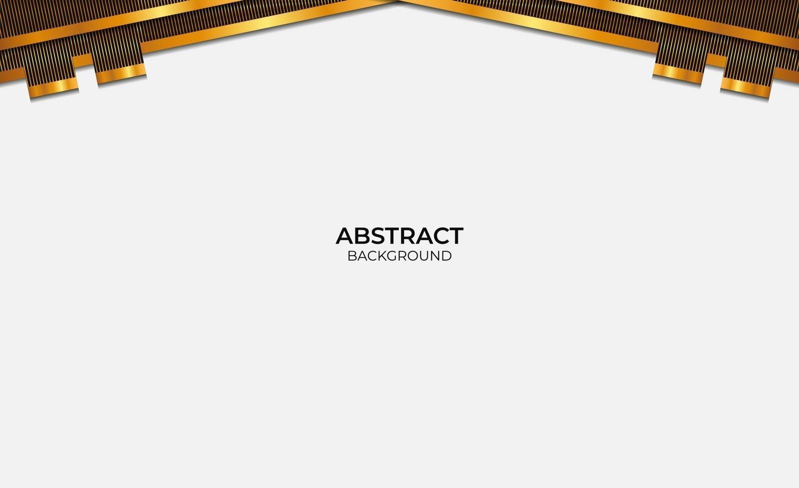 style de conception abstrait fond noir et or vecteur