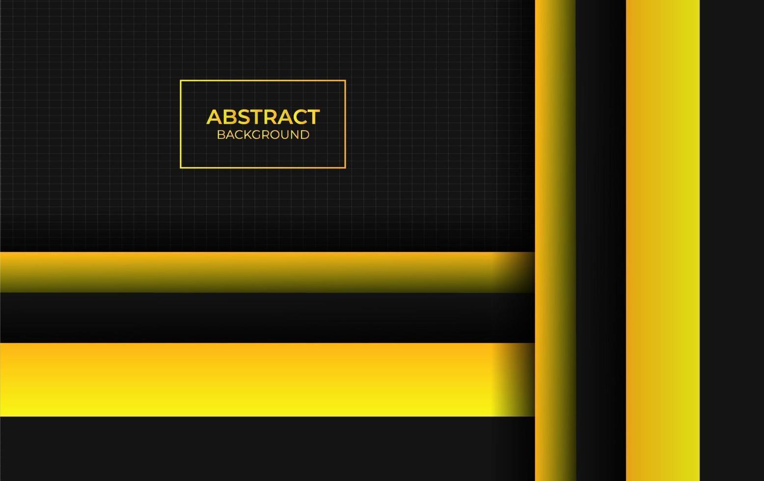 style abstrait jaune et noir vecteur