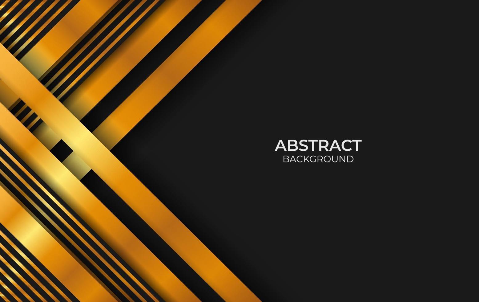 fond de style abstrait luxe noir et or vecteur