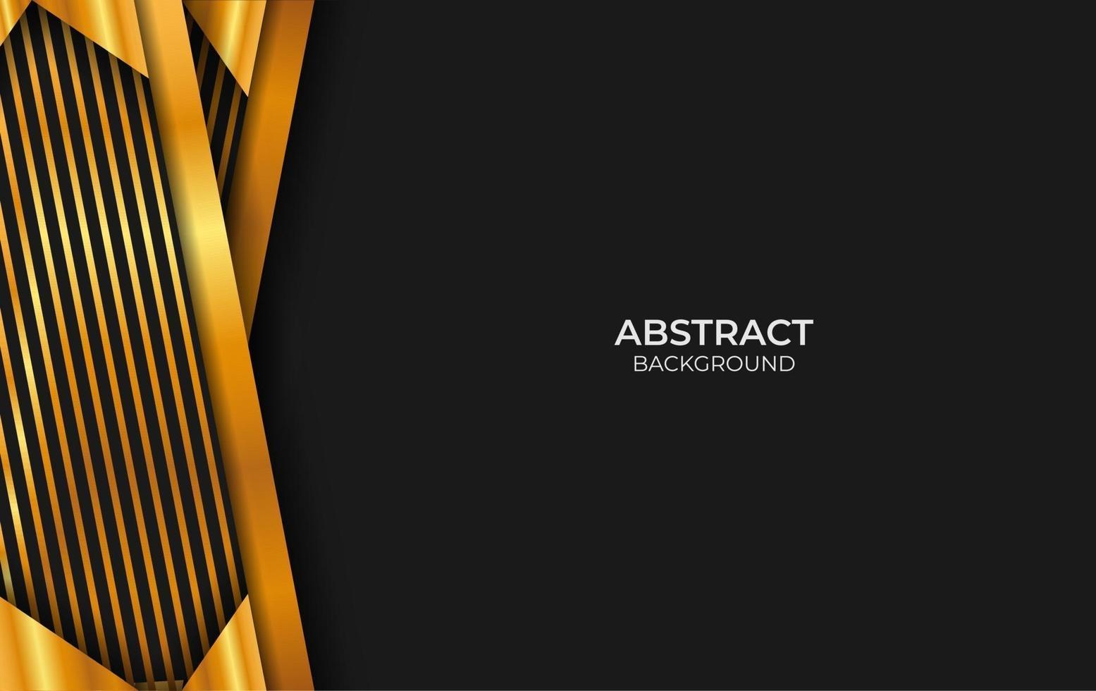 fond abstrait noir et or de luxe vecteur