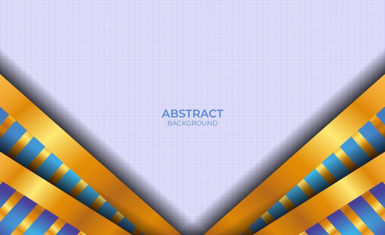 conception abstraite de luxe bleu et or vecteur
