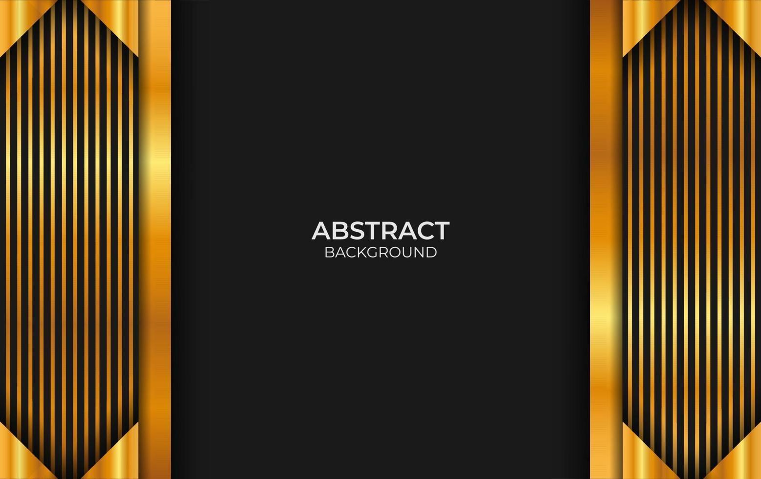 style de fond abstrait noir et or vecteur