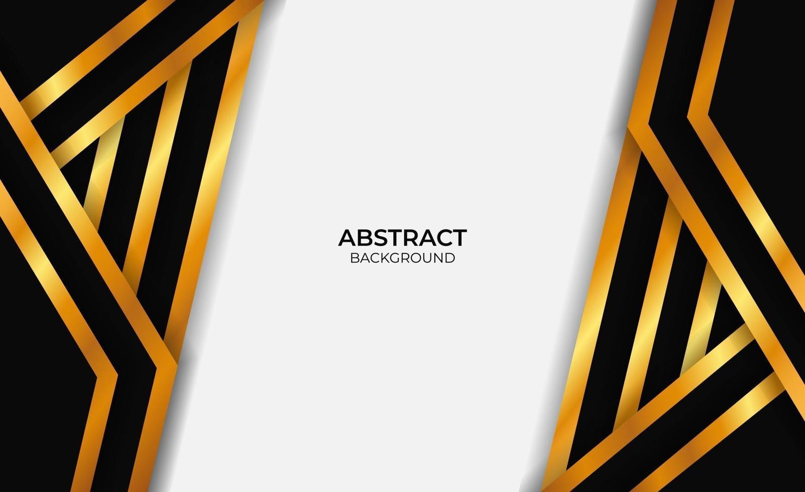 style de conception abstrait or et noir vecteur
