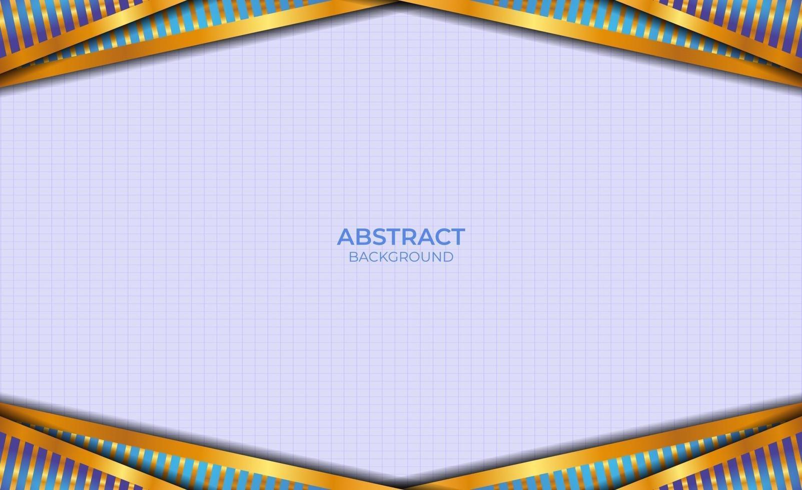 style abstrait bleu et or de luxe vecteur