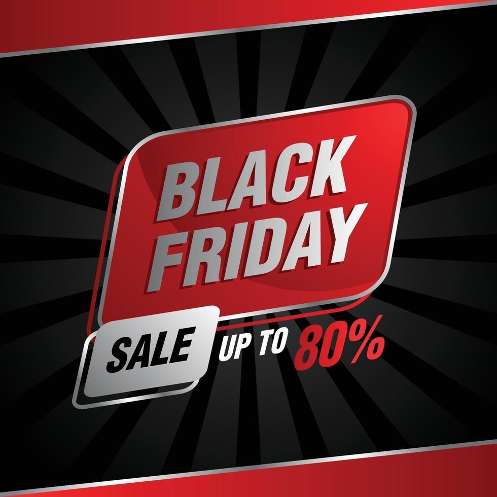 réduction de vente vendredi noir jusqu'à 80 vecteur