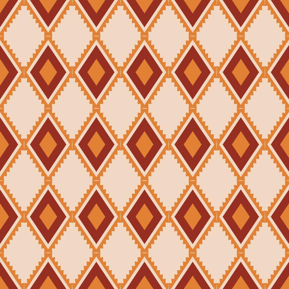 motif ethnique abstrait de tissu géométrique, style d'illustration vectorielle sans soudure. conception pour tissu, rideau, fond, tapis, papier peint, vêtements, emballage, batik, tissu, tuile, céramique vecteur