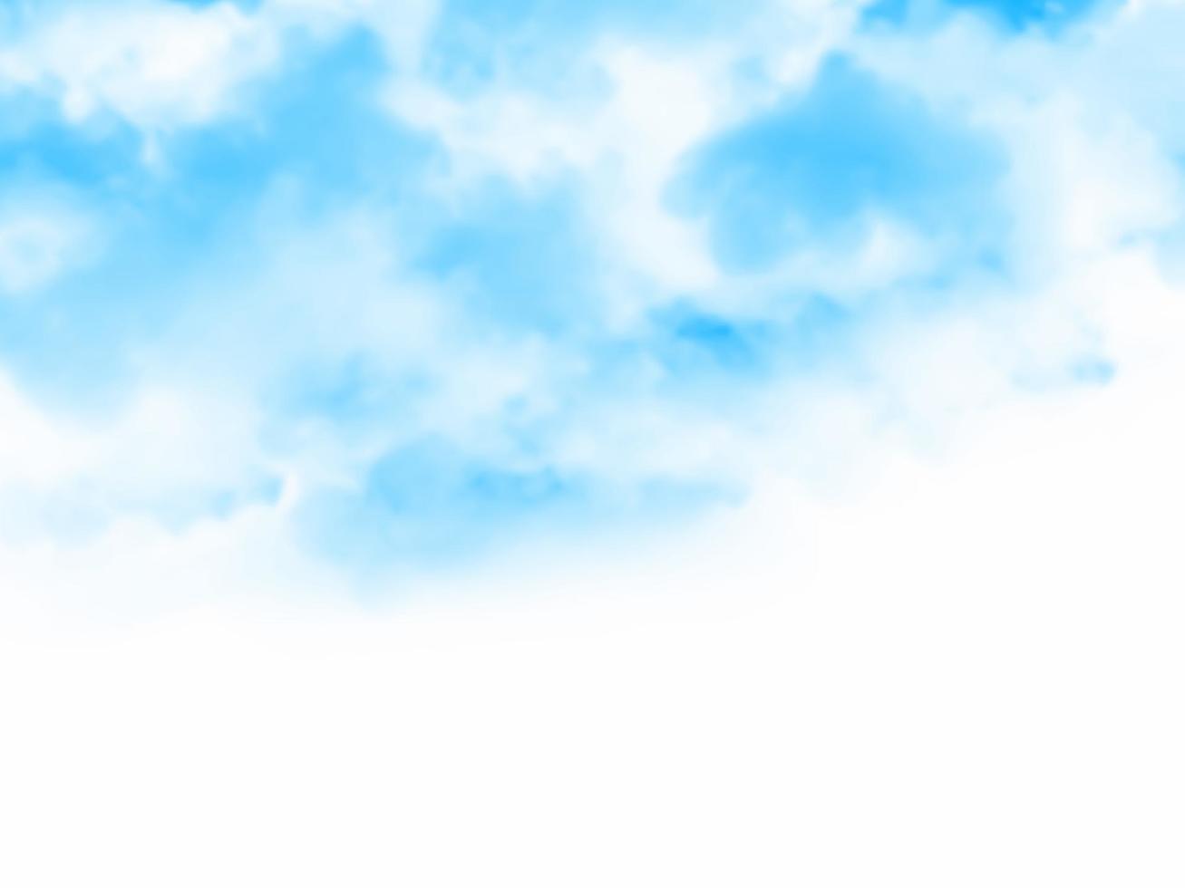 fond de ciel et nuage avec aquarelle vecteur