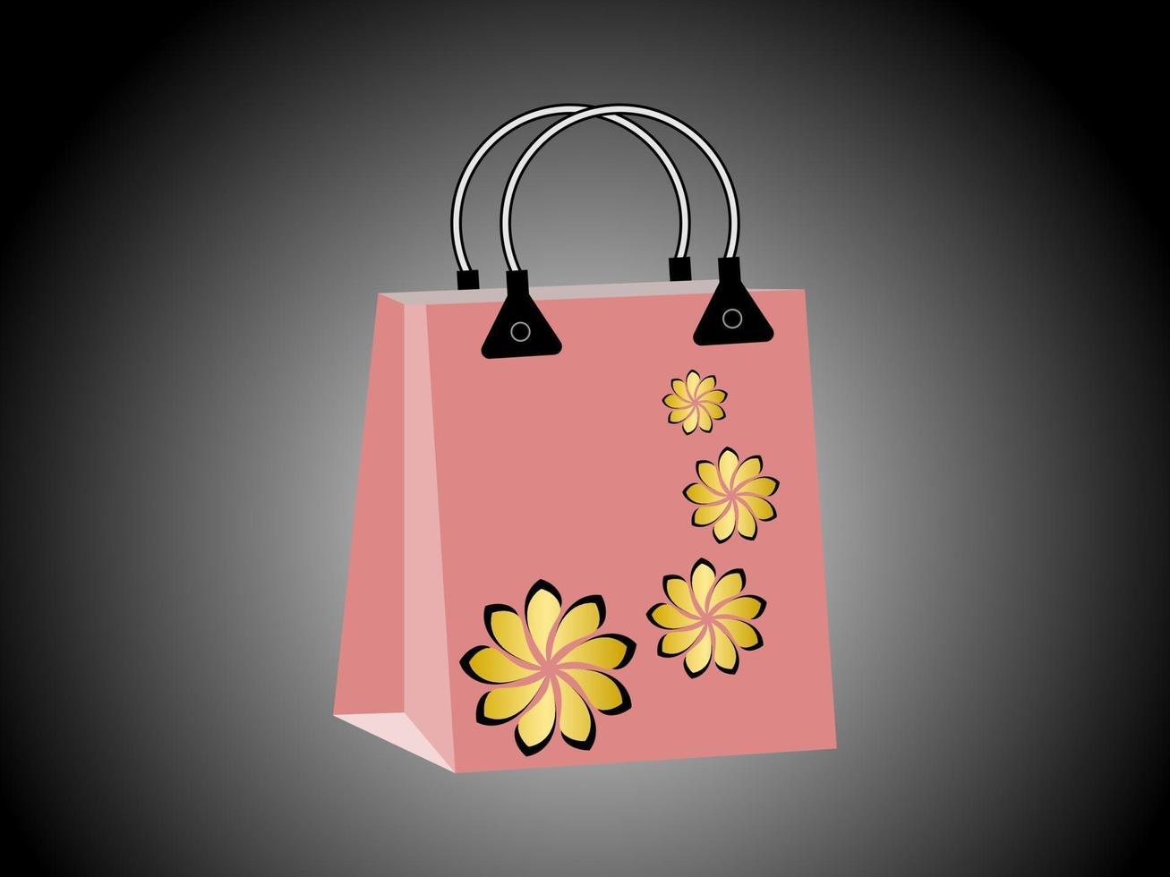 conception de papier de sac à provisions vecteur