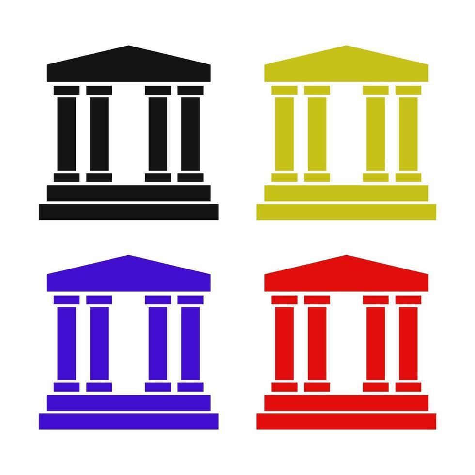 banque sur fond blanc vecteur