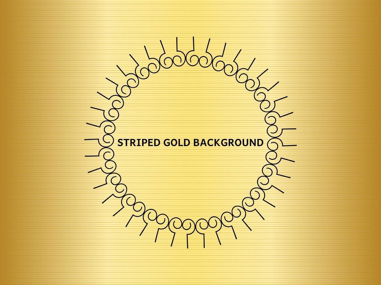 fond d'or avec texture rayée vecteur