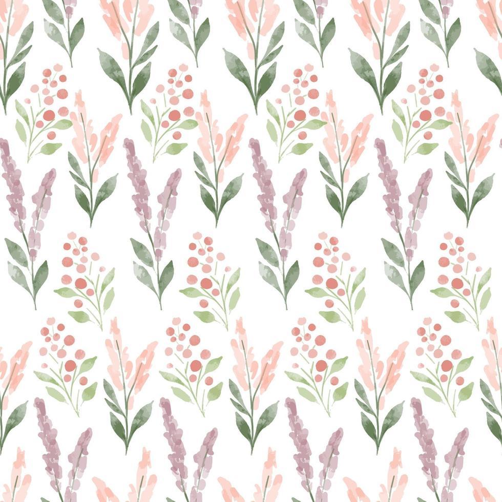 aquarelle prairie motif transparent floral couleur pastel vecteur