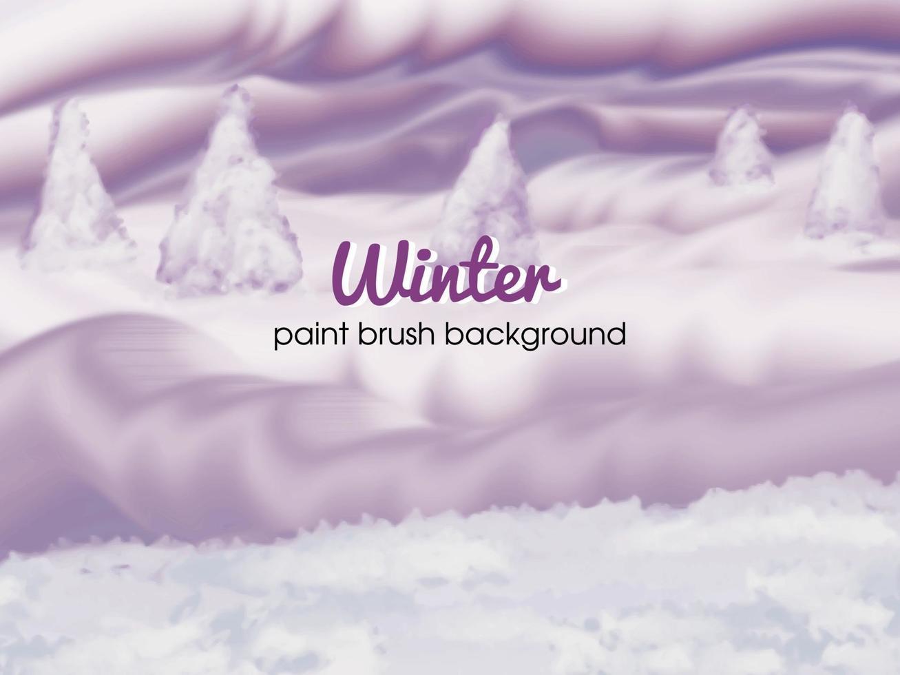 fond d & # 39; hiver avec pinceau vecteur
