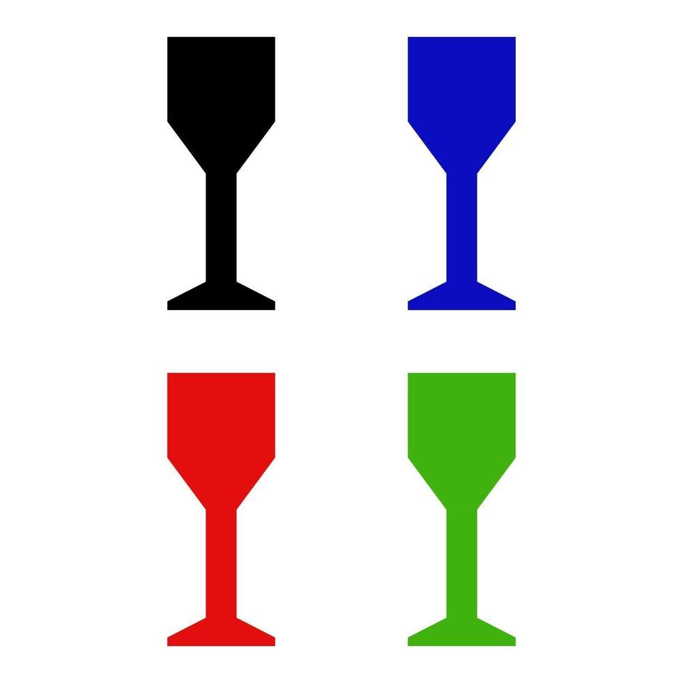 ensemble de verre à vin sur fond blanc vecteur