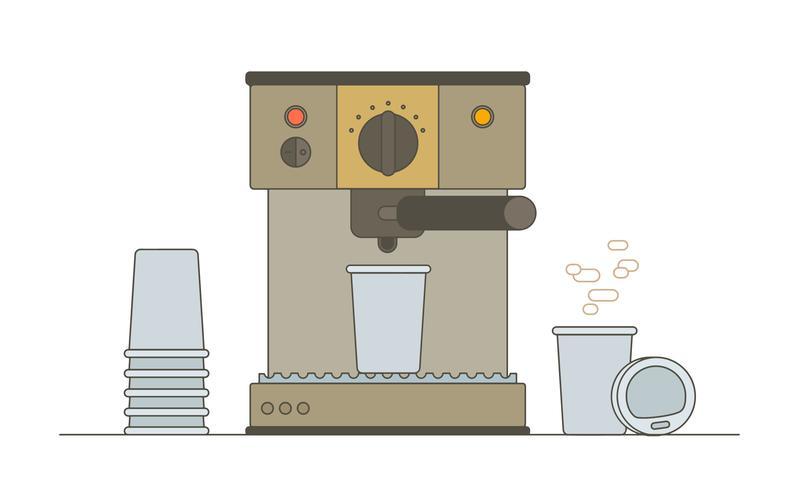 Vecteur de machine à café