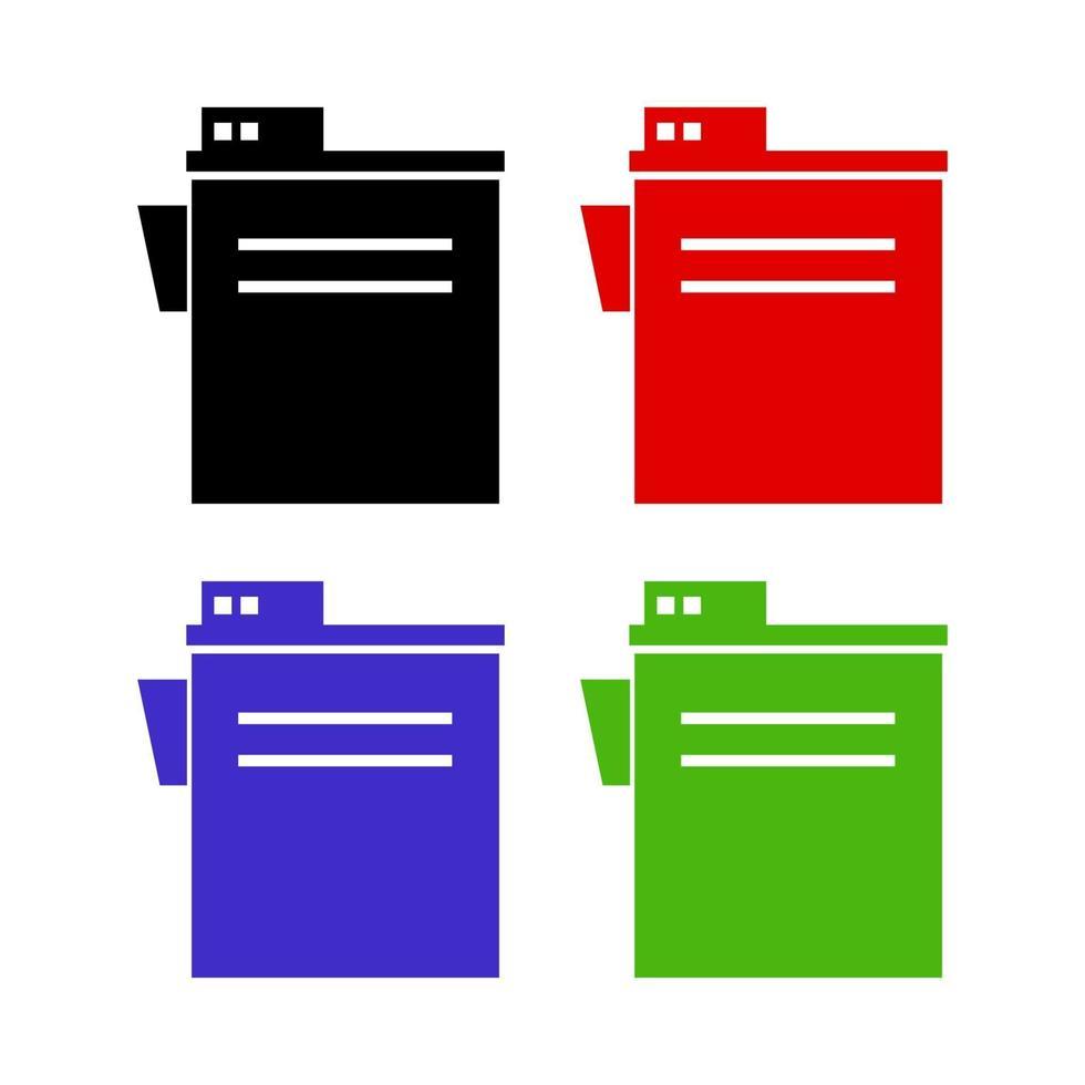ensemble de photocopieur sur fond blanc vecteur