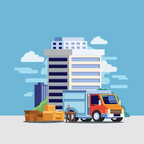 Camion de déménagement vecteur