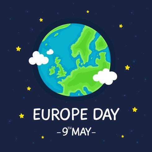 Affiche de la journée européenne vecteur