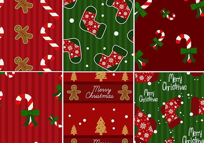 Paquet de motifs Candy Cane & Gingerbread Illustrator vecteur