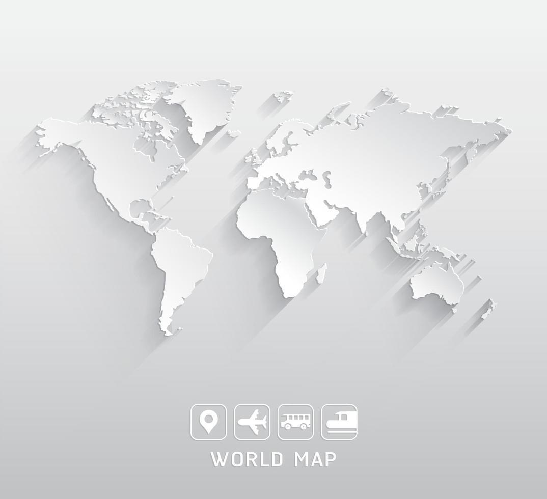 illustrations vectorielles de carte du monde. vecteur