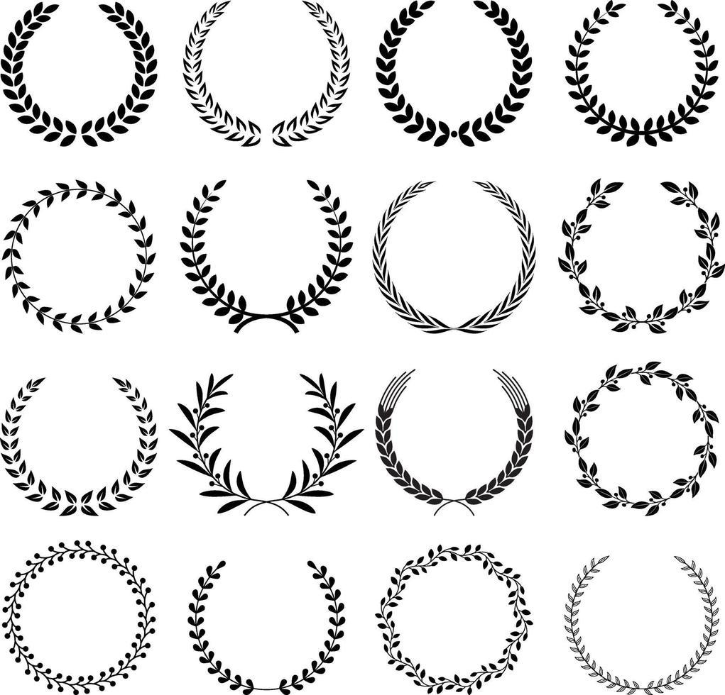 illustrations vectorielles de guirlande. vecteur