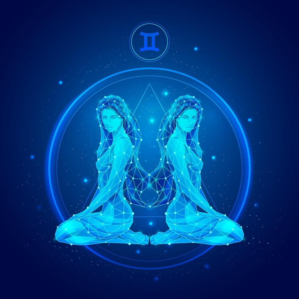 icônes de signe du zodiaque Gémeaux. vecteur