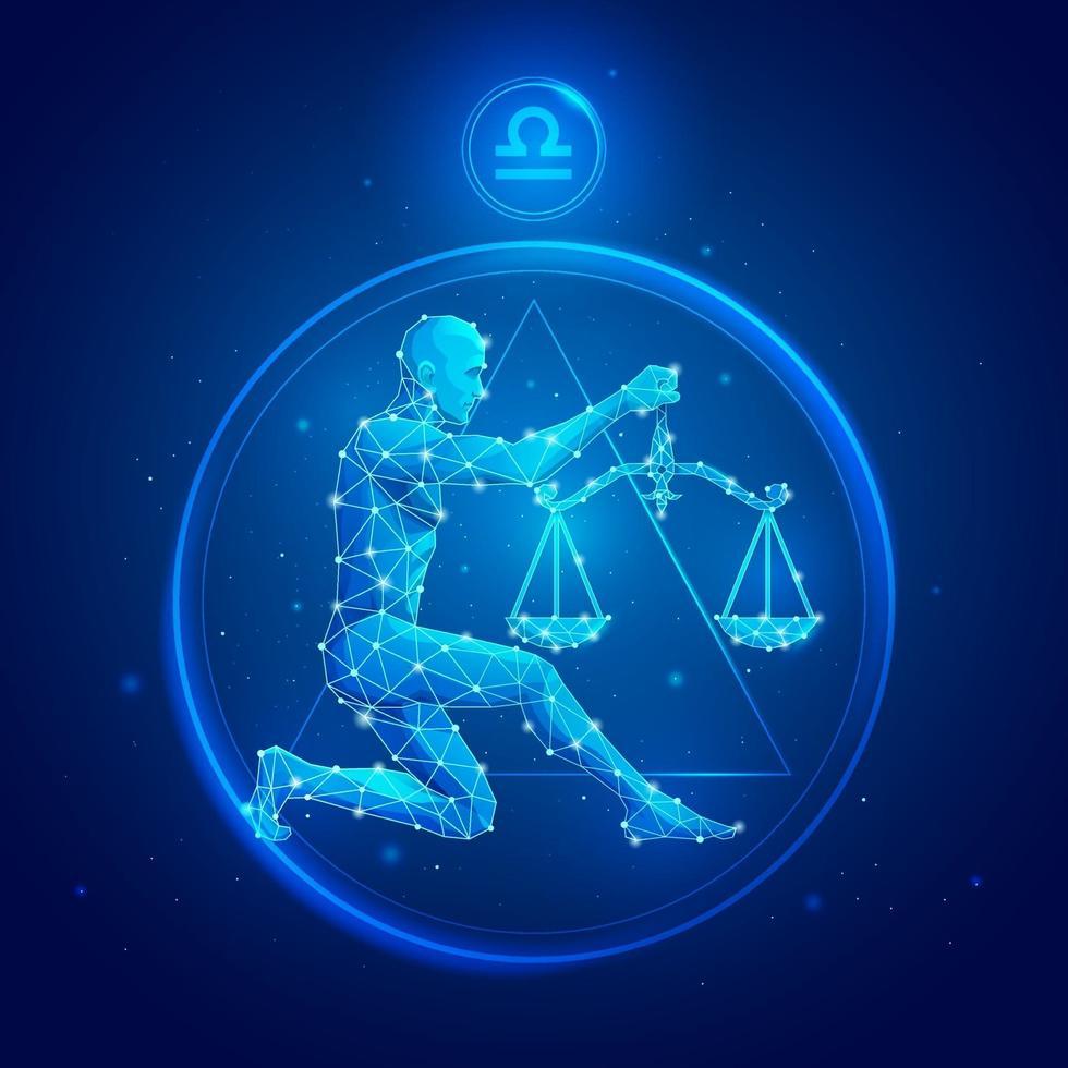 icônes de signe du zodiaque Balance. vecteur