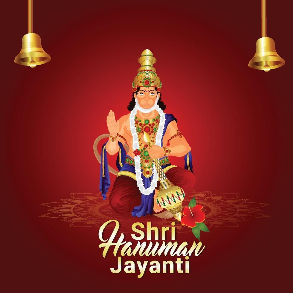 illustration créative de fond de célébration hanuman jayanti vecteur