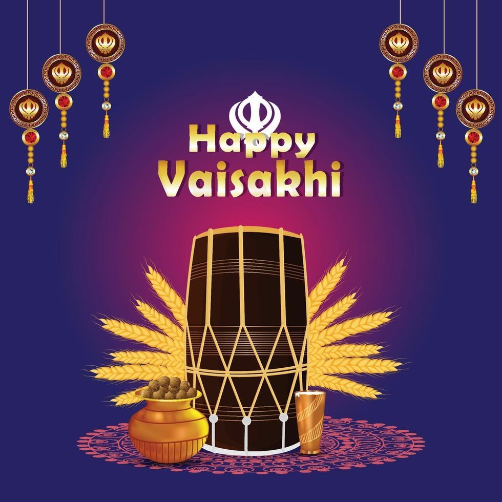 carte de voeux de célébration de gudi padwa vecteur