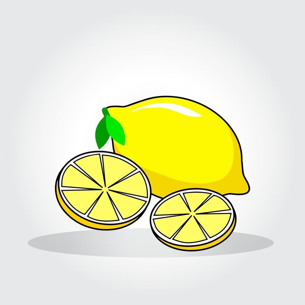 fruits de citron frais, collection d'illustrations vectorielles vecteur