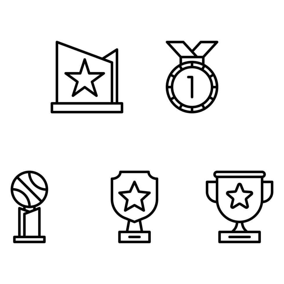 vecteur d & # 39; icône trophée et médaille