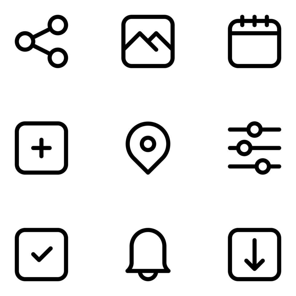 pack d'icônes d'interface utilisateur vecteur