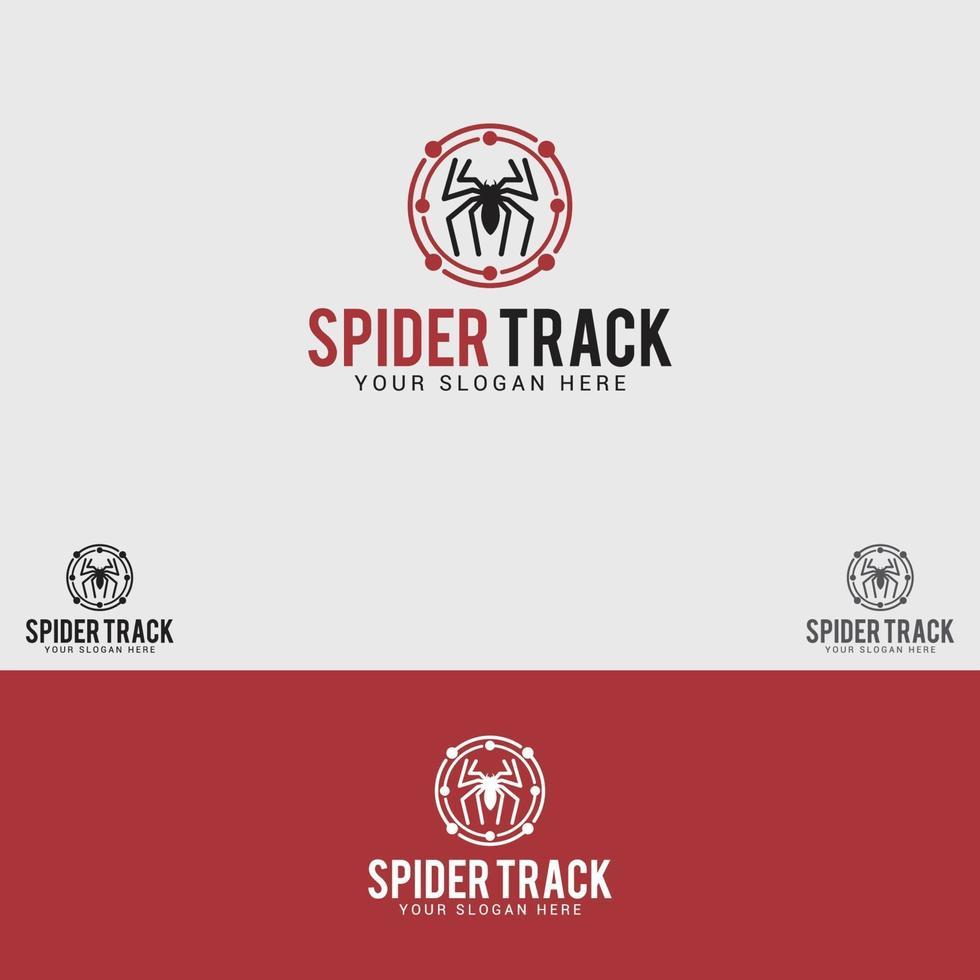 modèle de vecteur de conception de logo spider-track