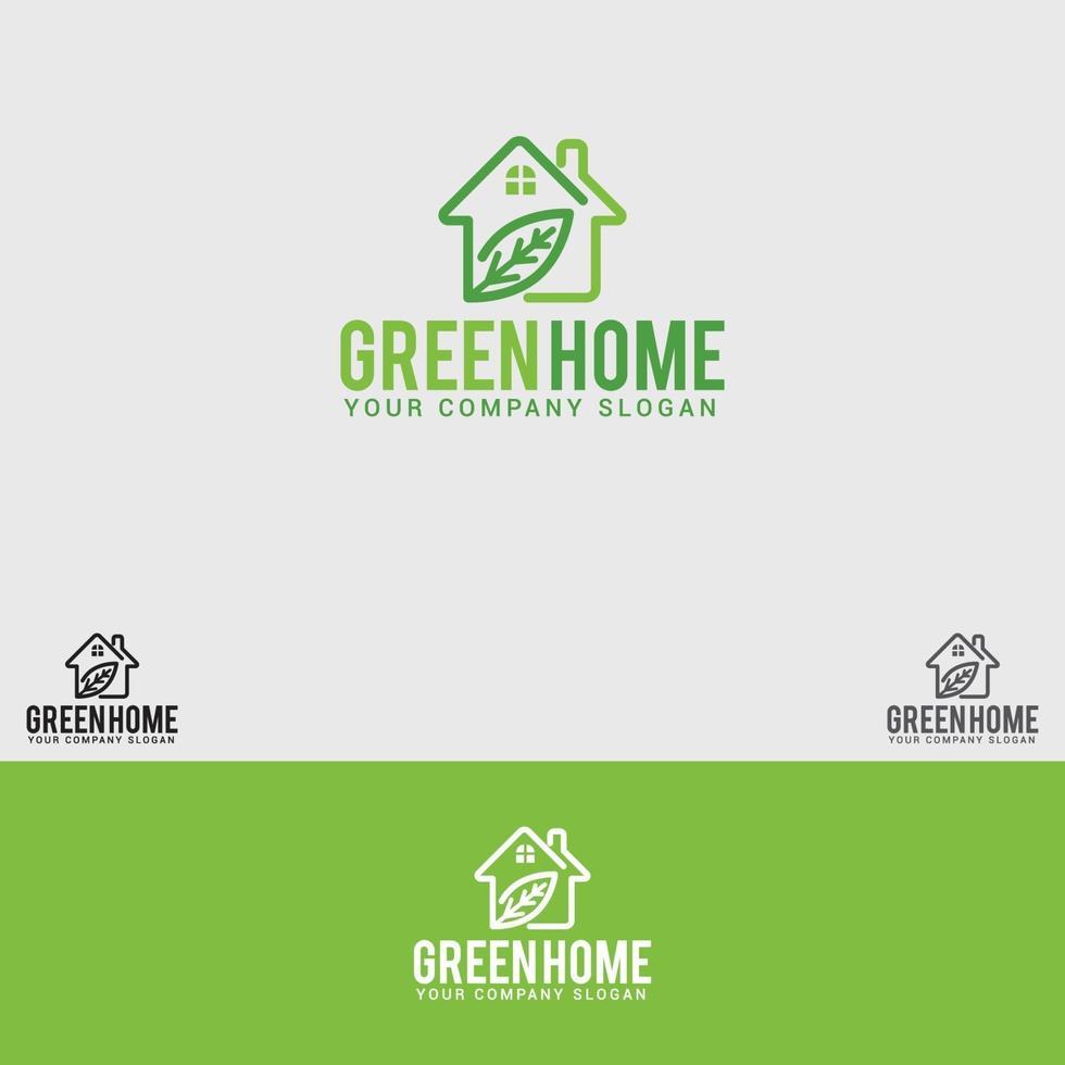 modèle de vecteur de conception de logo green-home
