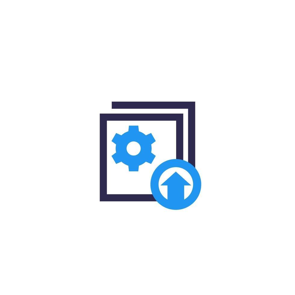 icône de mise à niveau sur white.eps vecteur
