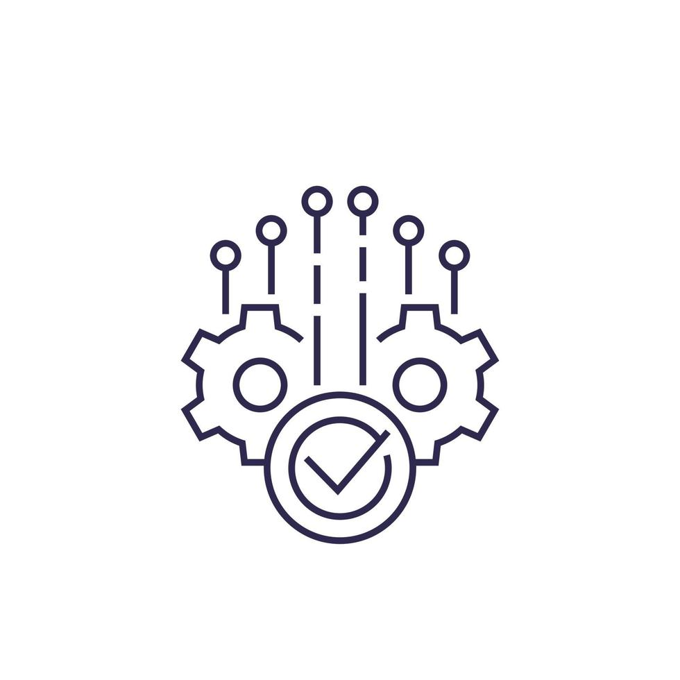 achèvement du projet, ligne icon.eps vecteur