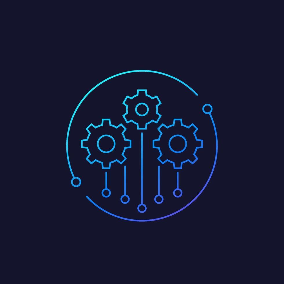 icône de projet, linear.eps vecteur