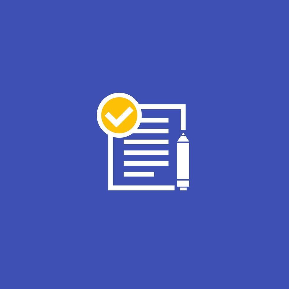 contrat, vector icon.eps