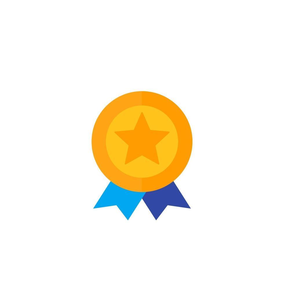 insigne avec étoile, vector icon.eps plat