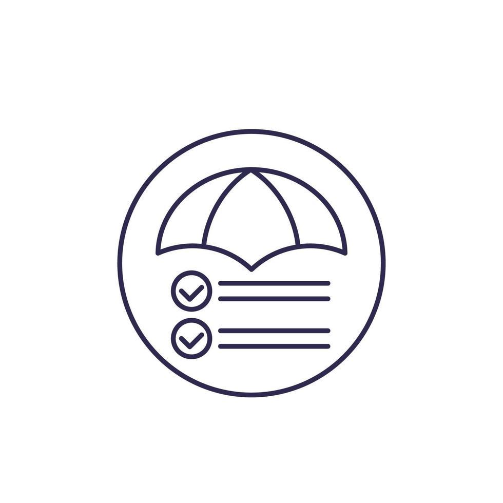 icône de ligne de gestion des risques sur white.eps vecteur