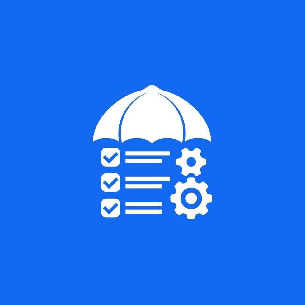 contrôle des risques, vecteur de gestion icon.eps